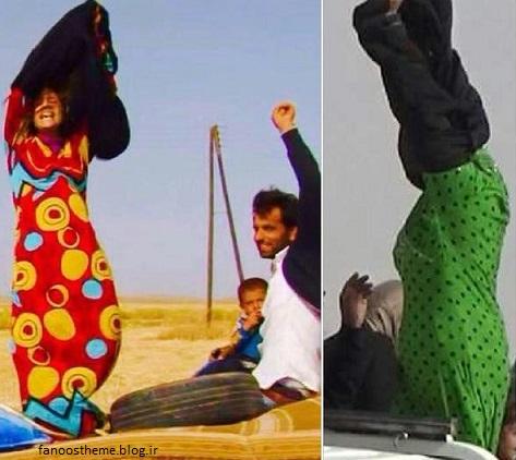 خوشحالی زنان بعد از فرار از داعش