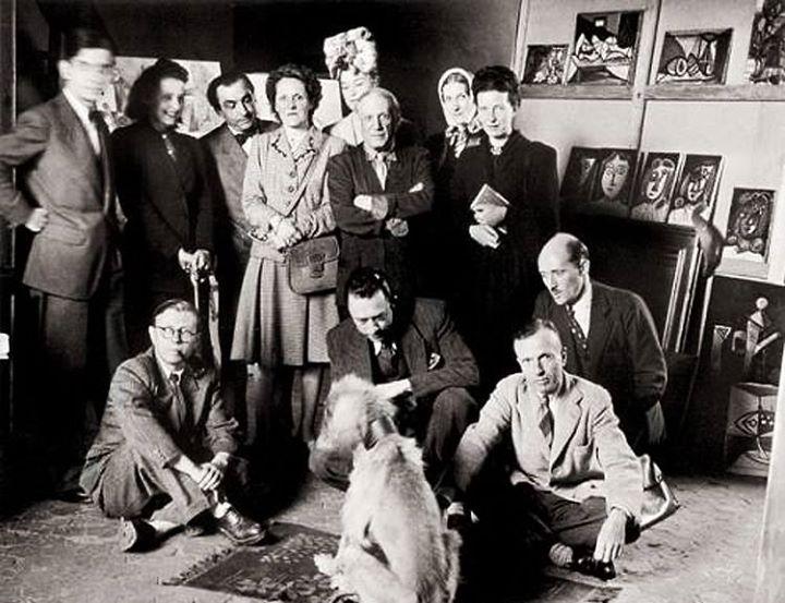 عكس نایاب از پیکاسو در كنار ژان پل سارتر، آلبر کامو