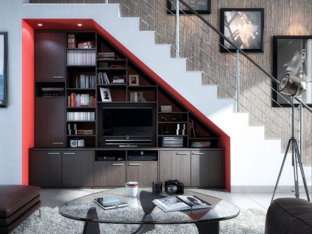 چند ایده برای استفاده از فضای زیر پله