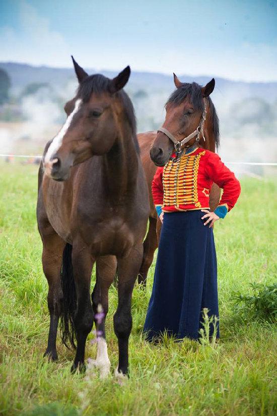 صورت اسب خنده دار