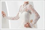 لباس عروس دانتل با آستین