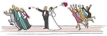 عکس خنده دار گل عروسی