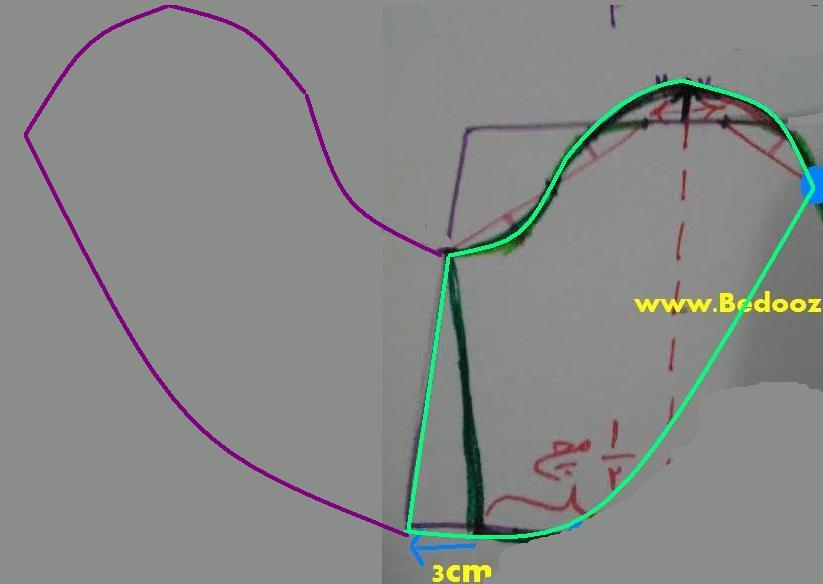 آموزش دوخت و الگوی بلوز مجلسی حریر با آستین گل لاله