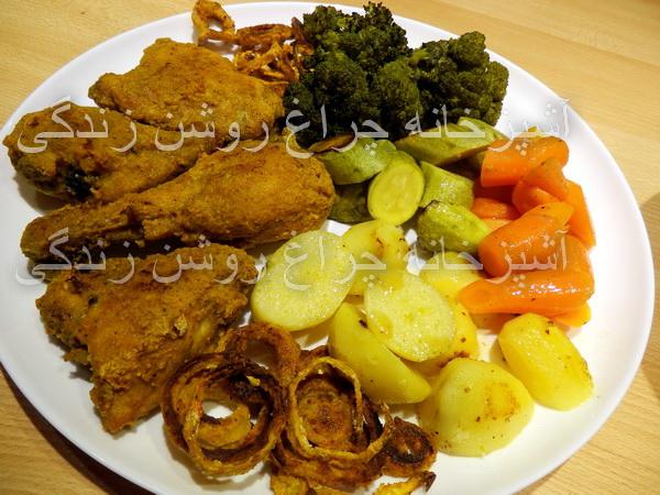 مرغ سوخاری رژیمی