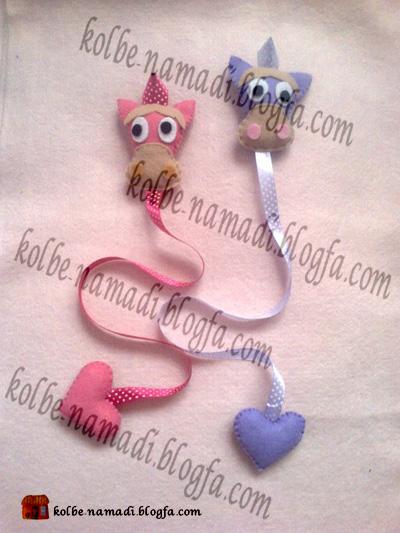 الگوی گیفت نمدی عروسی دست ساز های نمدی و چرمی چیکا - نگهدارنده گل سر