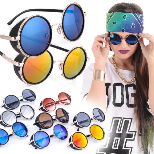 عینک طرح پرادا شیشه آبی