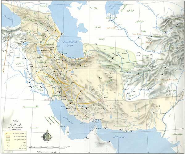 قلمرو زندیه در دوره کریم خان زند
