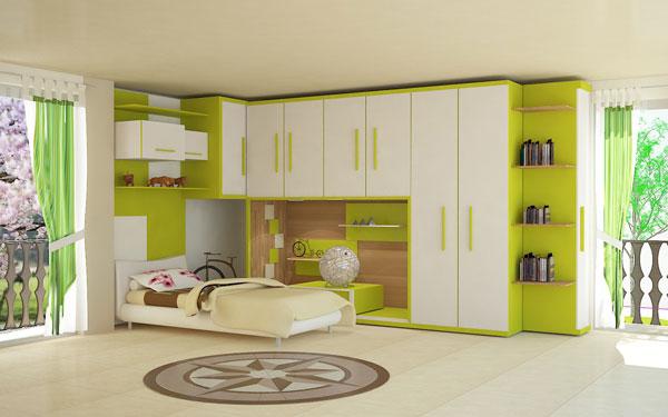 نمونه کار طراحی اتاق و آشپزخانه دانشجویی