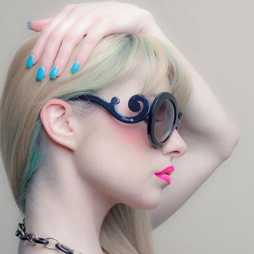 عینک پرادا شیشه گرد زنانه