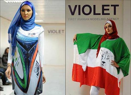 مانتوی های جدید با طرح پرچم ایران! , اخبار گوناگون
