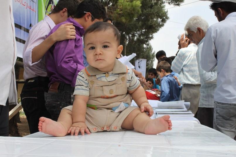 محمدحسین در راهپیمایی روز قدس