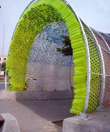 ساخت تونلی با بطری پلاستیکی! , تصاویر دیدنی