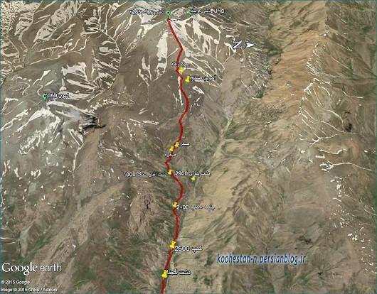 مسیر قله ناظر بزرگ