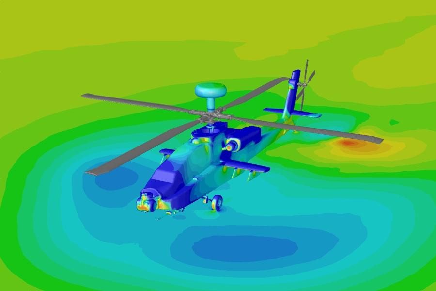 شبیه سازی هلیکوپتر در فلوئنت