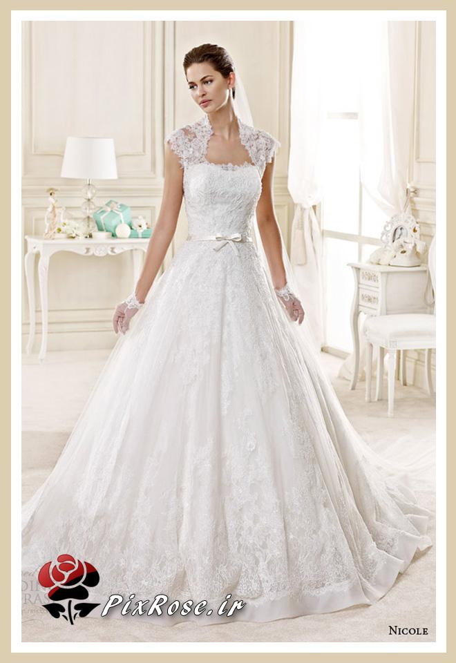مدل های لباس عروس آستین دار