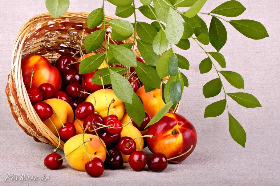 تصاویر زیبایی از سبد میوه