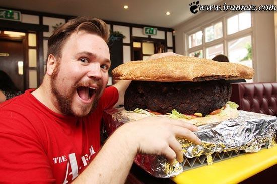 ساخت بزرگترین همبرگر دنیا در انگلیس+عکس , جالب و خواندنی