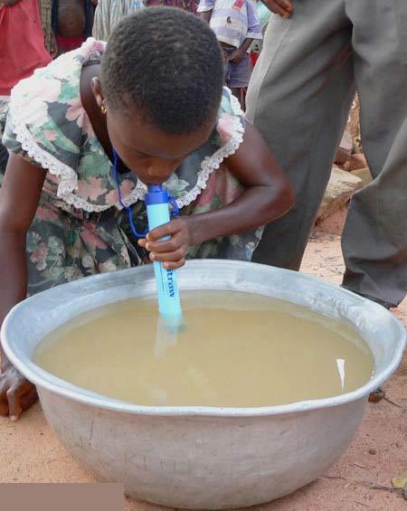 نوشیدن از آب گل آلود با این وسیله , جالب وخواندنی