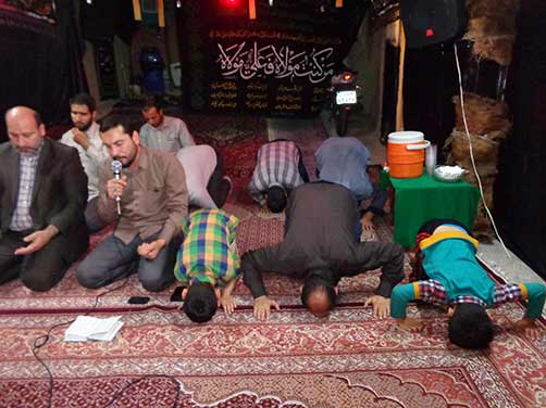 مراسم معنوی هیئت فاطمیون درحسینه شهید محمد علی دولت آبادی