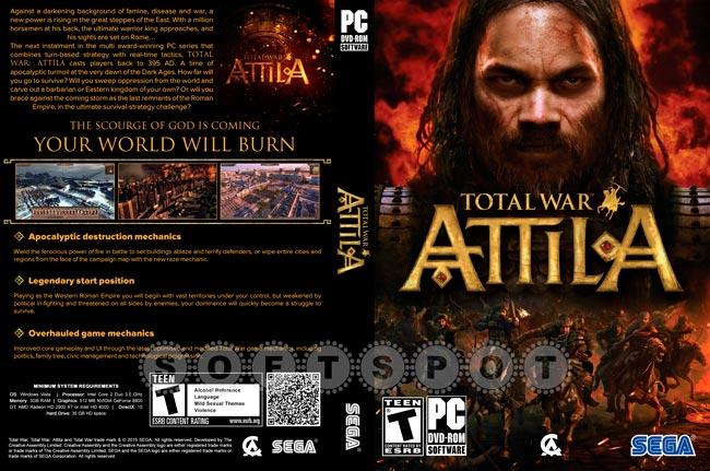 کاور بازی Total War: Attila
