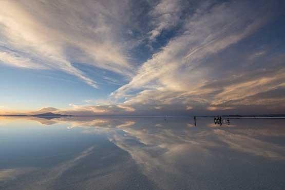 تصاویر راه رفتن روی آب در کشور بولیوی , تصاویر دیدنی