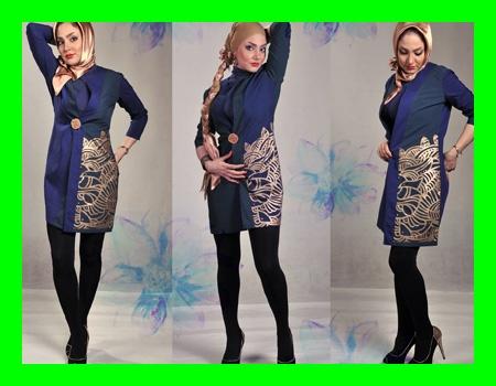 مدل مانتو جدید زنانه پارچه ریون ترک شانتون 2015