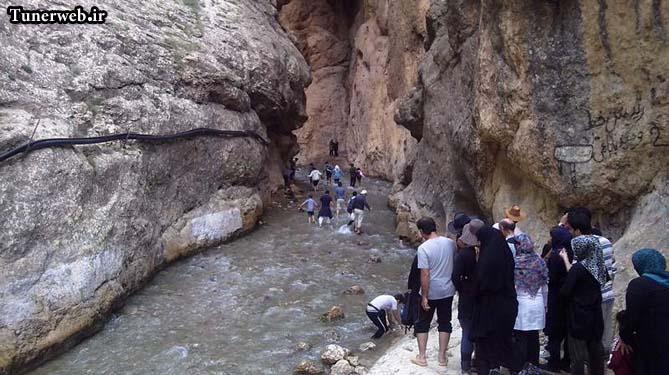 مسیر پیاده روی برای رسیدن به آبشار ارتکند