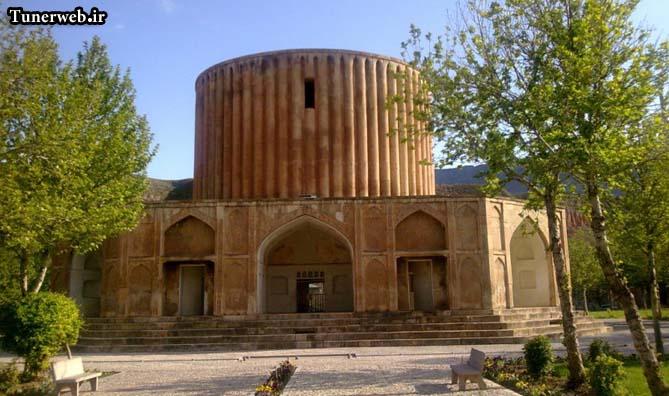 تصویری از قصر خورشید در شهر کلات نادر