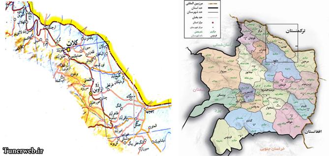 در این تصویر موقعیت شهرستان کلات و نقشه ی کامل این شهرستان به نمایش گذاشته شده است