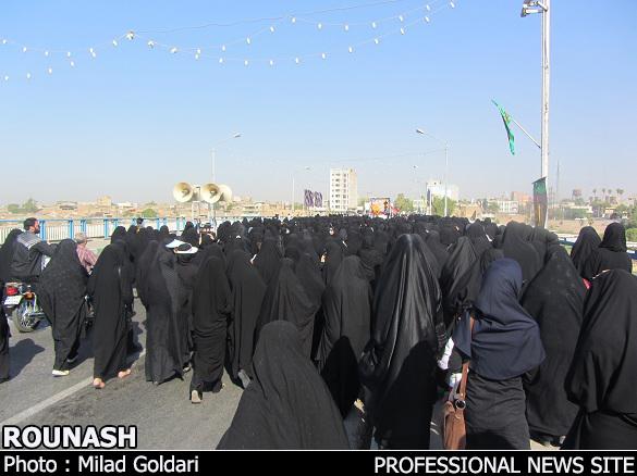 گزارش تصویری ویژه روناش/ پیکر رمی شهید غواص اهل دزفول تشییع شد