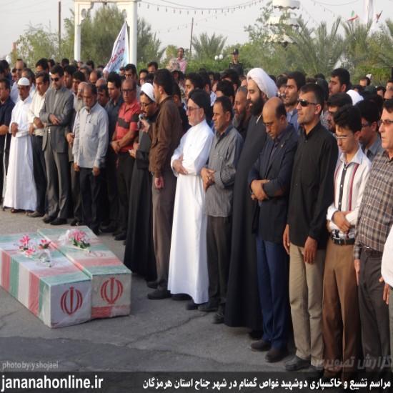 گزارش تصویری>مراسم تشییع و خاکسپاری شهدای غواص در شهر جناح+۲۰عکس