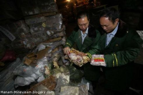 کشف محموله گوشتهای زامبی در چین