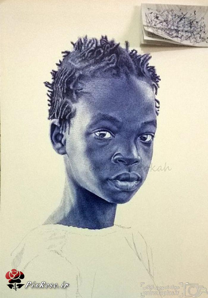 نقاشی های باورنکردنی با خودکار,نقاشی های باورنکردنی,هنر های زیبا,هنر نقاشی,نقاشی با خودکار,نقاشی های جالب