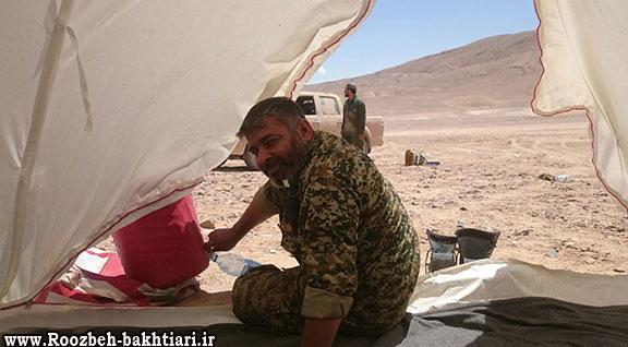 مدافعان حرم شهید کریم غوابش قبل از شهادتش