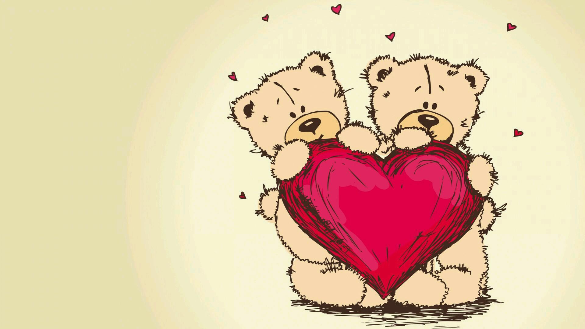 تصویر خرس قلبی