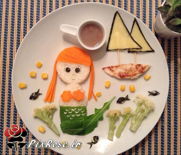 ایده های خلاقانه با خوراکی ها,هنرنمایی با غذاها,ایده های خلاقانه,هنرنمایی های زیبا