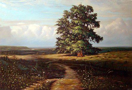 فروش تابلو نقاشی تک درخت