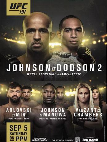 دانلود یو اف سی 191 | UFC 191: Johnson vs Dodson 2