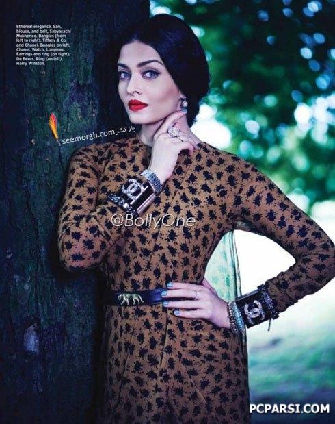 جدیدترین تصاویر آیشواریا روی مجله Harper Bazaar , چهره های معروف