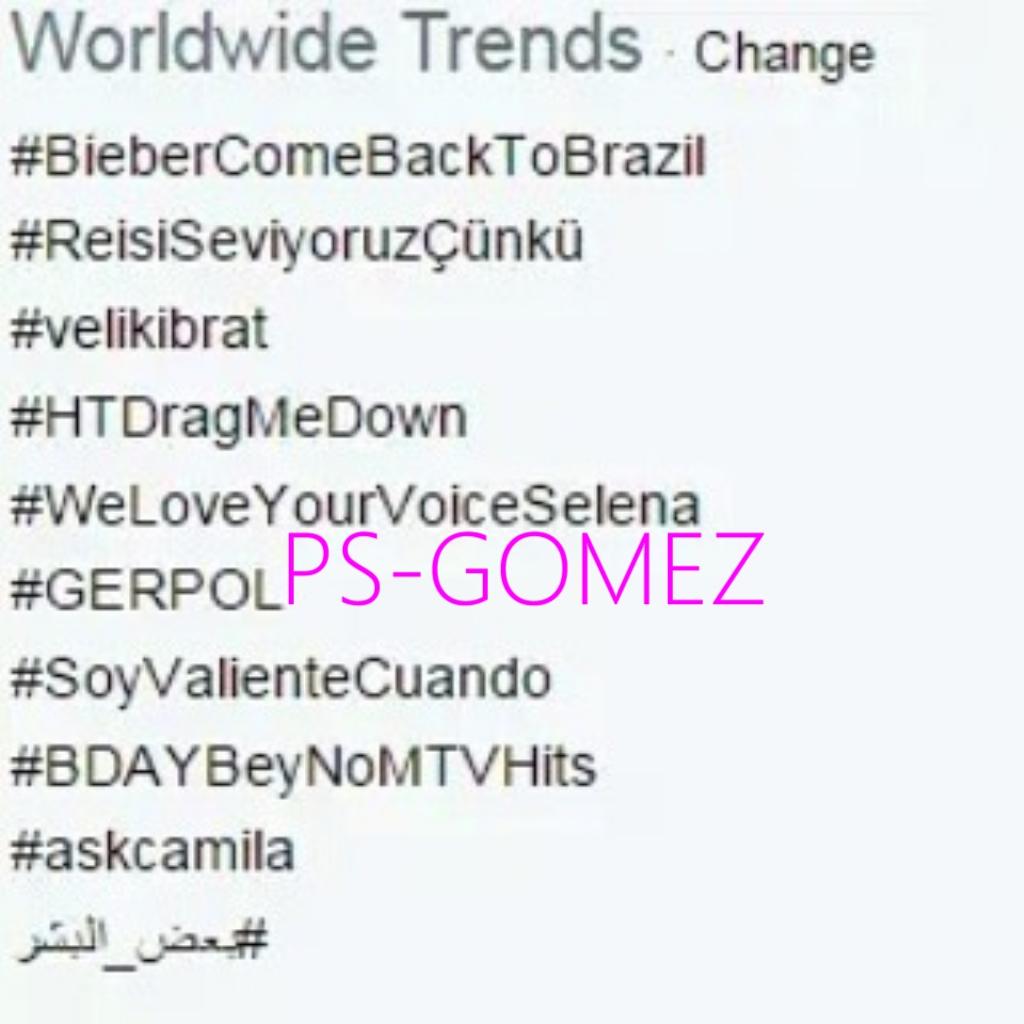 WeLoveYourVoiceSelena# ترند جهانی شد!