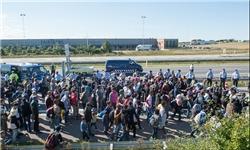 مسدود شدن محورهای مواصلاتی شمال اروپا برای جلوگیری از ورود مهاجران