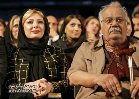 نیوشا ضیغمی در کنار  ناصر ملک مطیعی , عکس بازیگران
