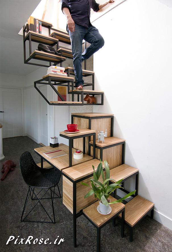 راه پله های خلاقانه و دیدنی,پله های جالب,تصاویر جالب,عکس های دیدنی,معماری های خلاقانه