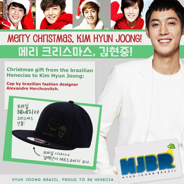 Gifts for Kim Hyun Joong, from Hyun Joong Brazil_HJBR