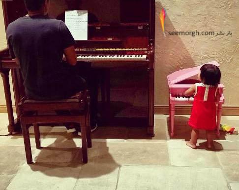 عکس های شادمهر عقیلی و دخترش , دنیای موسیقی