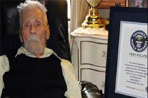 پیرترین مرد دنیا فوت کرد , اخبار گوناگون