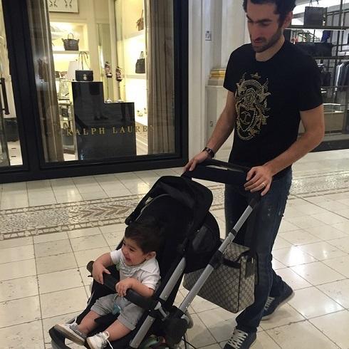 مجتبی جباری و پسرش در قطر + عکس , اخبار ورزشی