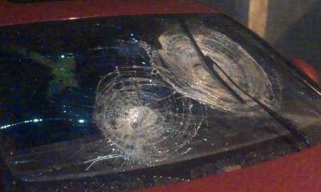 سقوط سنگ روی پورشه زن تهرانی در جاده هراز , حوادث