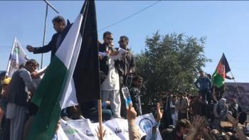 مظاهرکنندگان کابل: ارگ خیانت می کند طالبان جنایت