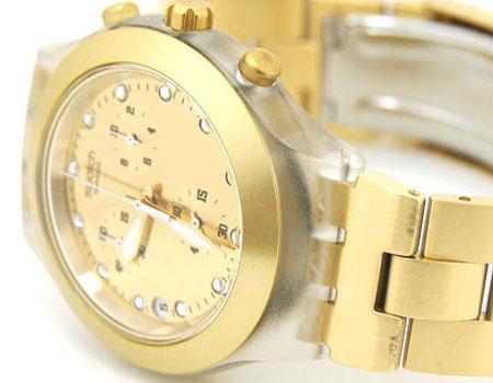 ساعت مچی مارک معروف سواچ swatch طلایی